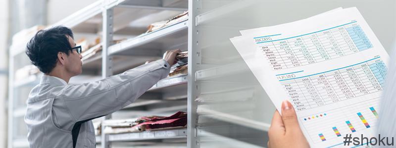 経理事務の棚卸資産の受け払い簿作成