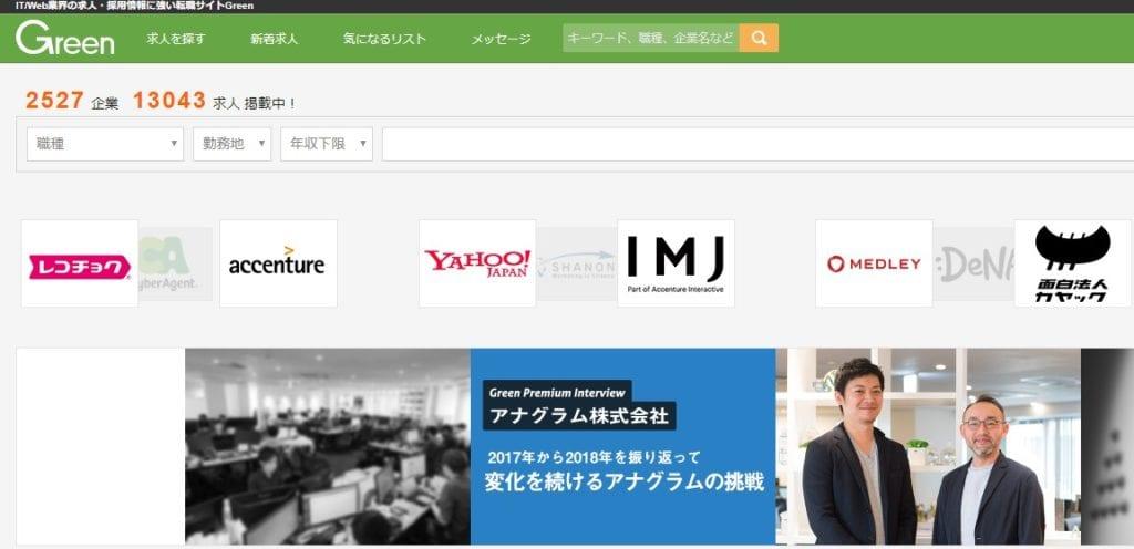 Greenのホームページ画像