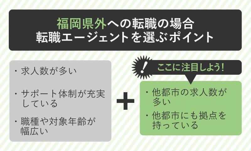 福岡県外への転職の場合転職エージェントを選ぶポイント