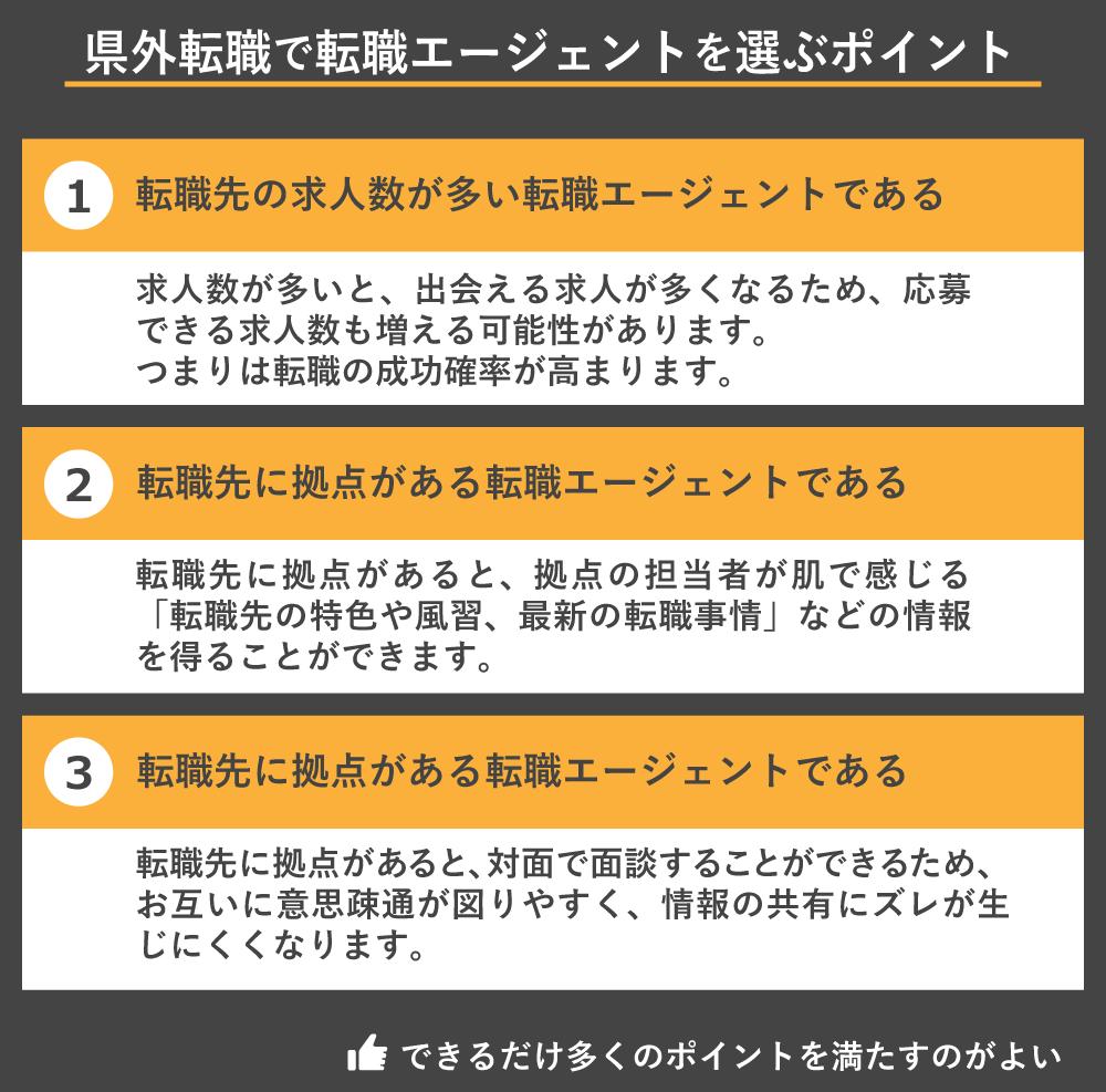 県外転職で転職エージェントを選ぶポイント