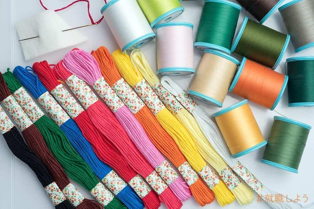 手芸品の裁縫や刺しゅう、直し作業